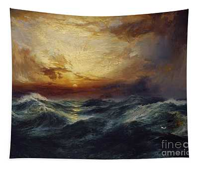 Sunset After A Storm Tapestry