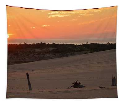 Sunset And Sand Dunes Tapestry
