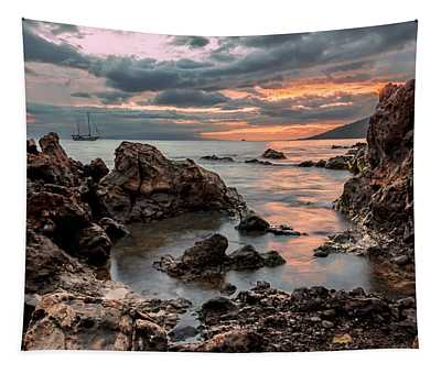 Sunset At Charley Young Beach Tapestry
