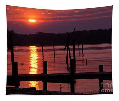 Sunset At Colonial Beach Tapestry