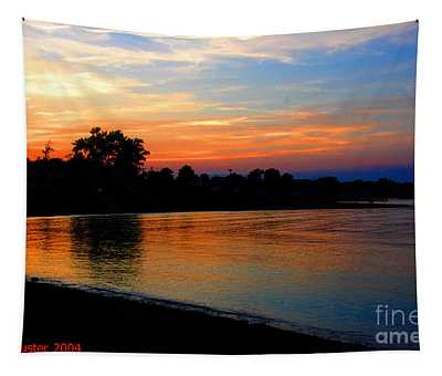 Sunset At Colonial Beach Cove Tapestry
