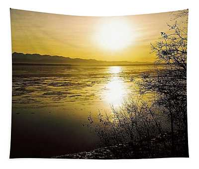 Sunset At Cook Inlet - Alaska Tapestry
