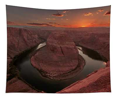 Sunset At Horseshoe Bend Tapestry