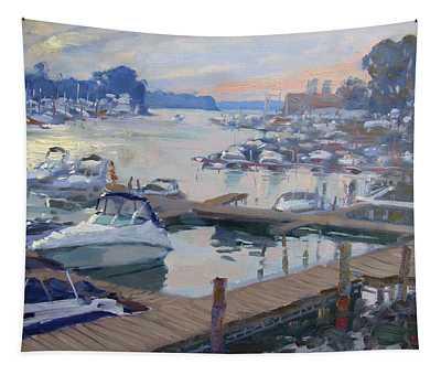 Sunset At North Tonawanda Harbor Tapestry