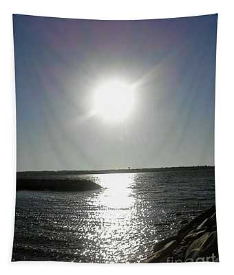 Sunset At Solomons Island Md Tapestry