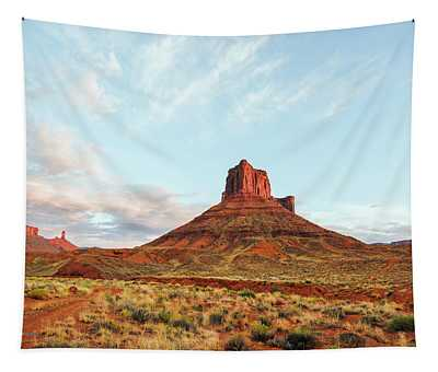 Tapestry featuring the photograph Sunset At The Castleton Tower by Jim Thompson