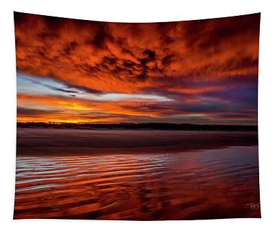 Sunset Beach 5 Tapestry