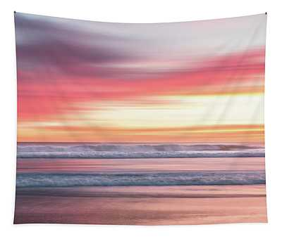 Sunset Blur - Pink Tapestry
