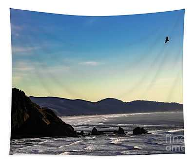Sunset Eagle Tapestry