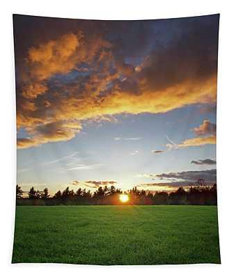 Sunset Field Tapestry