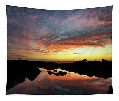 Sunset Fisherman Tapestry