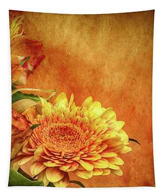 Sunset Flowers Tapestry
