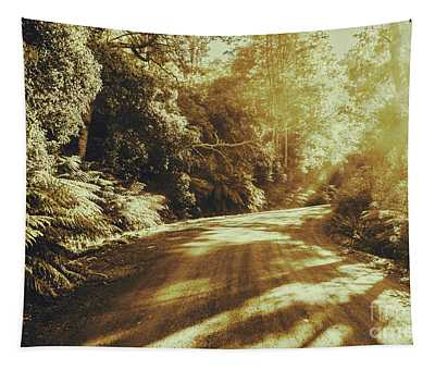 Sunset Forest Drive Tapestry