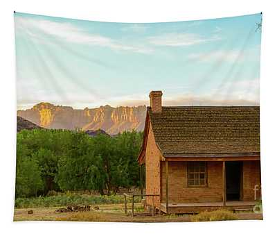 Sunset Grafton Ghost Town Tapestry