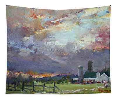 Sunset In A Troubled Weather Tapestry