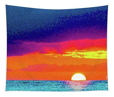 Sunset In Abstract  Tapestry