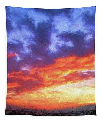 Sunset In Carolina Tapestry