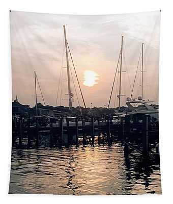 Sunset In Nantucket Tapestry