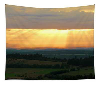 Sunset In Vogelsberg Tapestry
