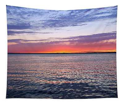 Sunset On Barnegat Bay I - Jersey Shore Tapestry