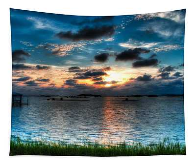 Sunset On Cedar Key Tapestry