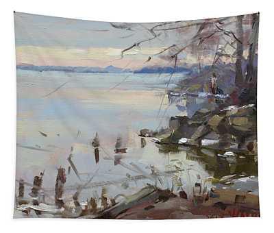 Sunset On Fishermans Park - North Tonawanda Tapestry