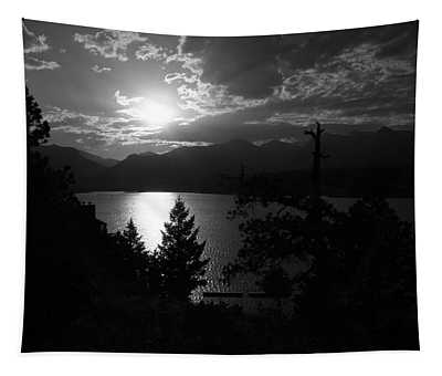 Sunset On Lake Estes Tapestry by Perspective Imagery