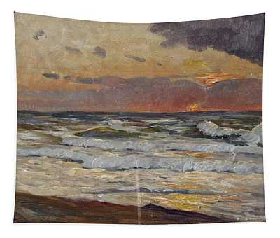 Sunset On The Baltic Sea Tapestry