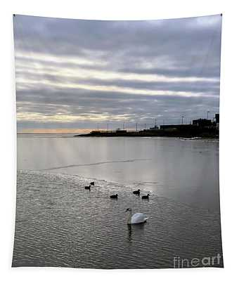 Sunset On The Water  Tapestry