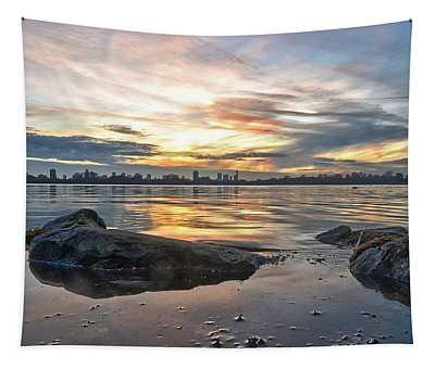 Sunset Over Lake Kralingen  Tapestry