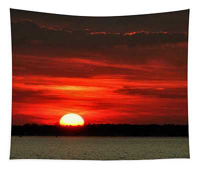 Sunset Over Long Island Tapestry