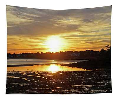 Sunset Over Lynch Park Beverly Ma Tapestry
