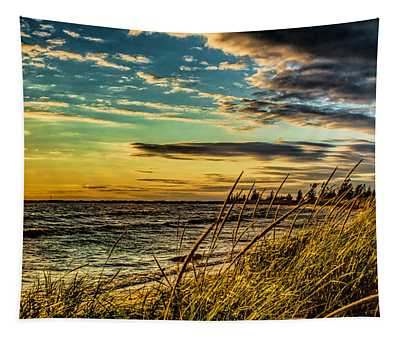 Sunset Over The Great Lake Tapestry