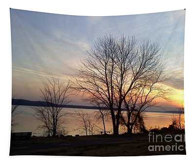 Sunset Over The Potomac Tapestry