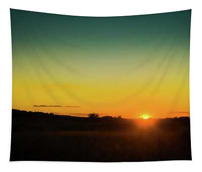Sunset Over The Prairie Tapestry