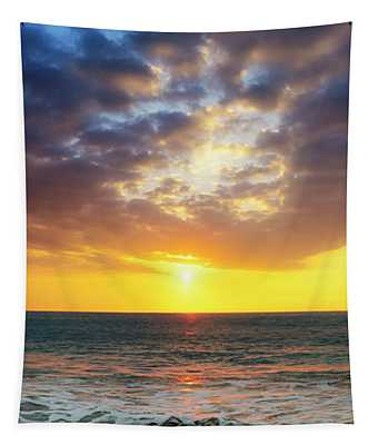 Sunset Panorama Tapestry