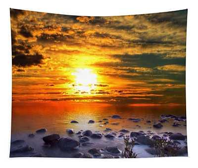 Sunset Shoreline Tapestry