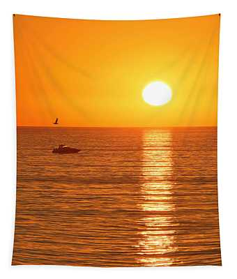 Sunset Solitude Tapestry
