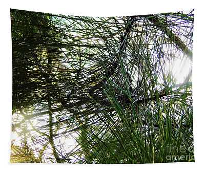 Sunshine Through Pine Needles Tapestry