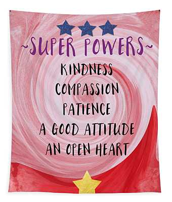 Super Powers- Inspirational Art By Linda Woods Tapestry
