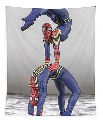 Superhero Acroyoga Pose One Tapestry