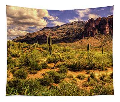 Superstition Mountain And Wilderness Tapestry