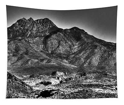 Four Peaks From Lost Dutchman State Park Tapestry