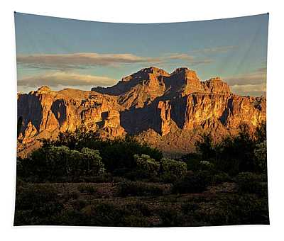 Superstitions At Sunset  Tapestry