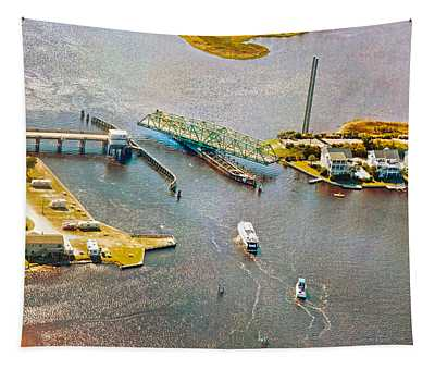 Surf City Swing Bridge Tapestry