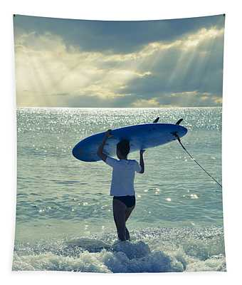 Surfer Girl Tapestry