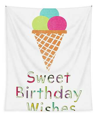 Sweet Birthday Wishes- Art By Linda Woods Tapestry