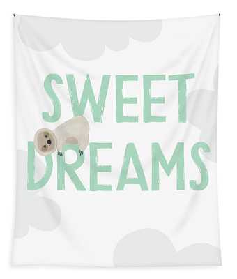 Sweet Dreams Sloth 2- Art By Linda Woods Tapestry