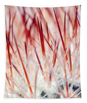 Sweet Gentle Pink Blooming Cacti Tapestry