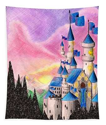 Sweet Heart Castle Tapestry